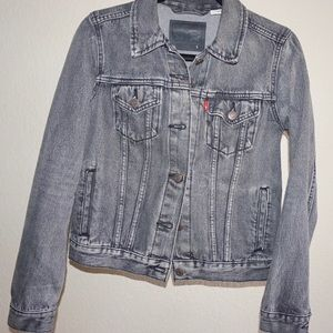 Levi's • Washed Gray Denim Jean Jacket